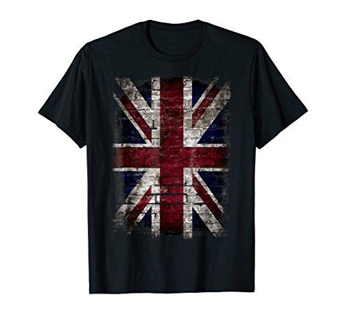 Grunge British Flag T Shirt Vintage Distress Punk -