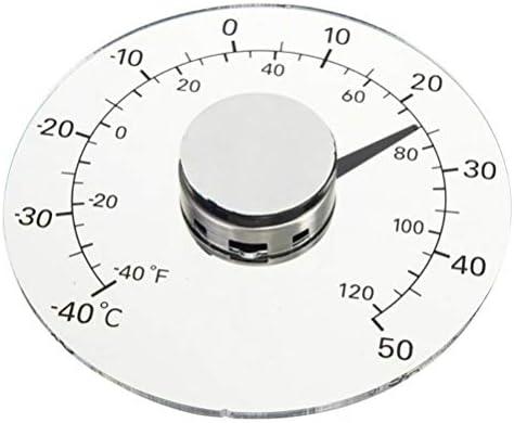 Garneck Haushalt Transparente Selbstklebende wasserdichte Termometer Stick auf Fenster Thermometer Regenmesser