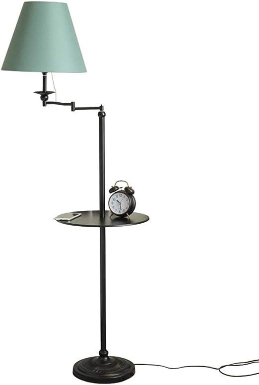 lampara de pie Lámpara de pie, sala de estar casera Sofá Mesita de noche Bandeja minimalista moderna Mesa de centro retro creativa Lámpara de estilo europeo: Amazon.es: Hogar
