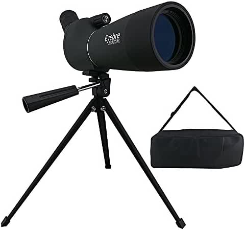 ZENQAI 20-60x60AE Waterproof Angled Spotting Scope with Tripod for Observing Hunting Outdoor Sports