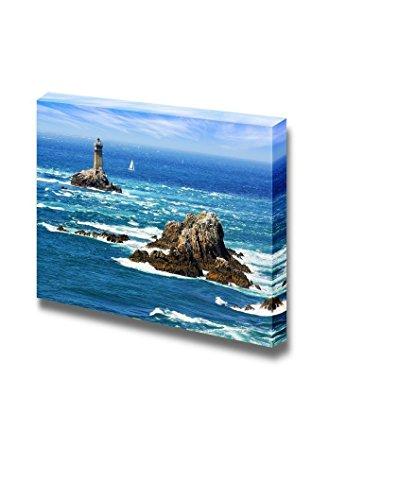Beautiful Scenery Seascape Lighthouse on Cape Sizun Pointe Du Raz Brittany France Wall Decor