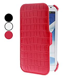 HP DF Crocodile Grain PU Leather Case for Samsung Galaxy Note 2 N7100 (Assorted Colors) , Red