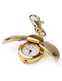 Women Gold Lady Girls Ladybug Key Chain Quartz Necklace Pocket Watch Xmas Gif...