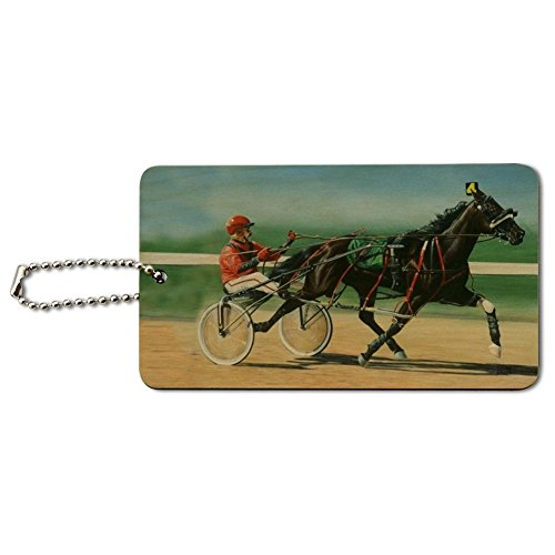 Harness Racing Horse Sulky Trotter Wood Luggage Card Suitcase Carry-On ID Tag -  GRAPHICS & MORE, IDTAG.WOOD.RECT.QQJQLMG00.Z001443_8