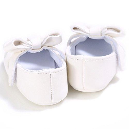 Baby Bowknot Herz Stickerei Schuhe Prinzessin Schuhe 0-18 Monat Weiß