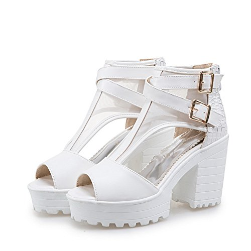 Marking 1TO9 Platforms Non Baguette Womens MJS03269 White Urethane Dress Style Sandals Eq1q6gwU