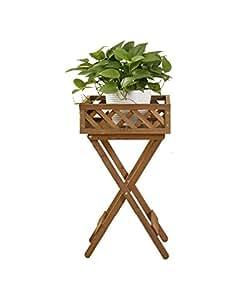 LB Estante de flores de madera maciza Estantes de maceta clásicos Estantes de múltiples funciones del marco de bonsáis Cuarto de estar con balcón Estante de flores Estantería para macetas