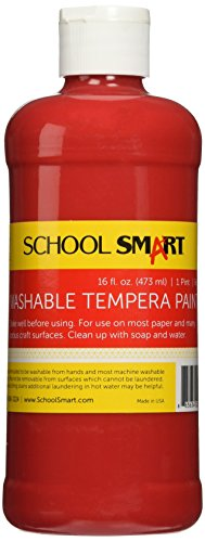 School Smart Washable Tempera Paint - Pint - Red