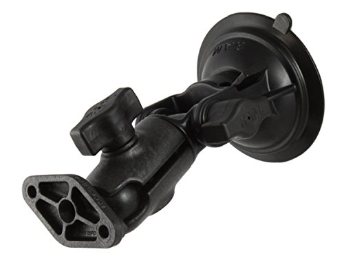 Ram Mount Composite Suction Cup Mount with 3.25-Inch Diameter Twist Lock Base, Single Swivel Socket Arm and 1-Inch Ball Diamond Base