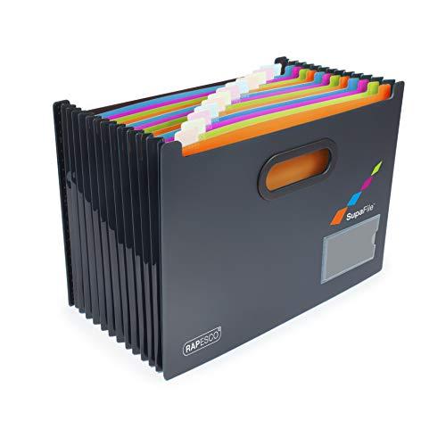 Rapesco SupaFile - Organizador de archivos A4, 13 compartimentos