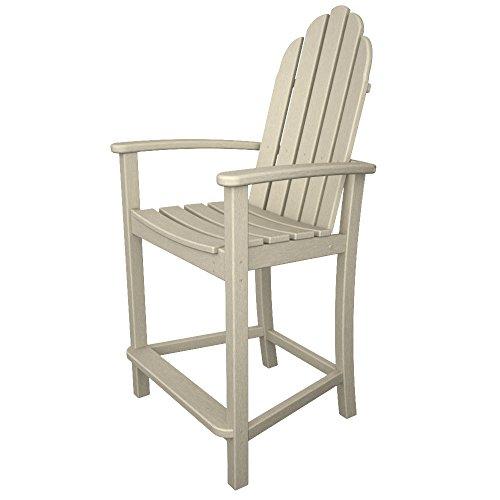 POLYWOOD Adirondack Counter Height Chair, Sand