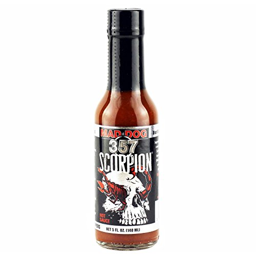 Mad Dog 357 Scorpion Pepper Hot Sauce 5oz (Best Tasting Hot Dogs)
