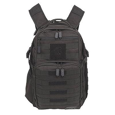 SOG YPB001 OG 008 Ninja Tactical Day Pack, 24.2-Liter Storage - Military Style - Heavy-Duty Polyester Design, Black