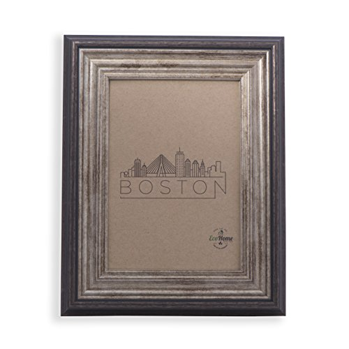 5x7 Picture Frame Antique Brown - Mount / Desktop Display, Frames by EcoHome (Desk Brown Antique)