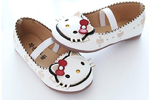 NO BRAND Inception Pro Infinite ® - Zapatos Bailarina Para Niñas con Imagen Gatito Color Blanco - YCB-073