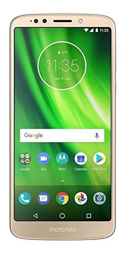 "Motorola Moto G6 Play (32GB) XT1922-5 5.7"" Dual SIM 4G LTE Factory Unlocked Smartphone International Version - No Warranty (Gold)"