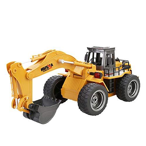 CreazyBee Kids Charging Remote Heavy Metal Excavator Model Free Die Cast Construction Toy 1:18 Scale Remote Control Excavator