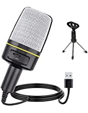 Multipurpose Condenser Microphones USB - Recording Microphone for Games and Singing - Podcast Microphone for Vocal - PC mic - Music Microphone Recording for Computer
