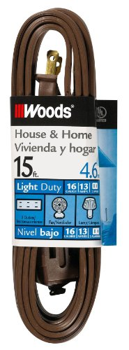 extension cord 15 feet brown - 4