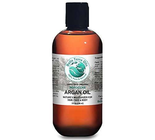 - Argan oil 8 oz 100% Pure Moroccan Cold-pressed Organic Unrefined - Bella Terra Oils