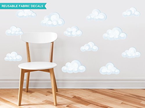 Sunny Decals Modern Clouds Fabric Wall Decals