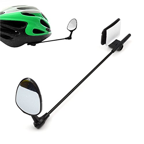 COOLWHEEL Bike Mirror For Helmet - 360 Degree Roration Adjustable Bike Helmet Mirror With Crystal Clear View - Lightweight Bike Rear View Mirror by COOLWHEEL