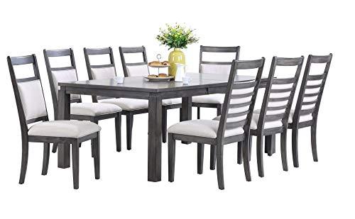 Sunset Trading Shades of Gray Dining Set, Large, Two Sizes, Weathered Grey