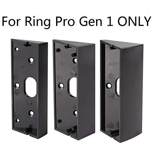 3x Adjustable(20 to 50 Degree) Ring Doorbell Pro Adapter Mounting Wedge Kit Ring Video Doorbell Pro Corner Kit Angle Adjustment Bracket(Not for Gen 2)