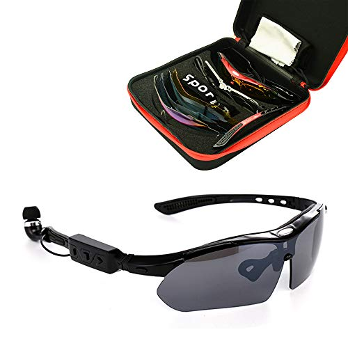 Smart Bluetooth Headset Glasses, Detachable Outdoor Car Universal HD Polarized Sunglasses for Driving, Outdoor Fishing, Travel ()