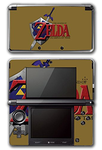 Legend of Zelda Link Ocarina 3D of Time Special Edition Gold Video Game Vinyl Decal Skin Sticker Cover for Original Nintendo 3DS - Gold Game Zelda