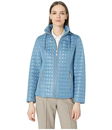 Kate Spade New York Womens Quilted Jacket Copen Blue SM (US 2-4)