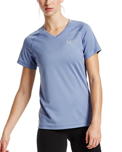 (Mission Women's VaporActive Alpha Short Sleeve V-Neck T-Shirt, English Manor,)