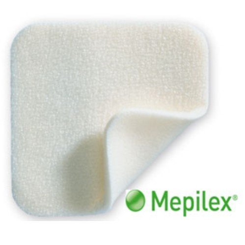 Mepilex 8'' x 8'' Absorbent Soft Silicone Foam Dressings, 1 Dressing (4 Pack) by Mepilex