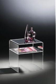 Homcom 02 0184 3er Set Beistelltisch Acryltisch Couchtisch