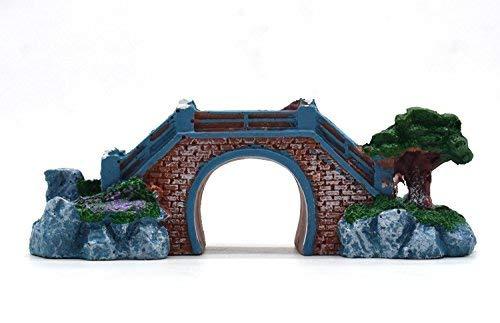 Foodie Puppies Aquarium Decoration Ornaments for Fish Bowl (Nano Bridge, 9 cm * 4.5 cm * 3.5 cm)