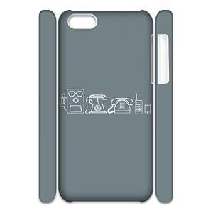 Iphone 5C Case, phones evolution 3D Case for Iphone 5C White