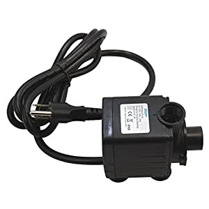 HQRP Submersible Water Pump 1500L/H 400GPH 25W for Indoor Garden Hydroponic Plant Growing Systems + HQRP UV Meter