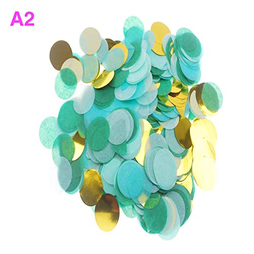 PAPKING Biodegradable Confetti Paper Confetti Large Bag Multi Colored for Holiday, Anniversary, Birthday, Graduation, Bridal, Wedding Poppers & Gender Reveal Party (A2) ()