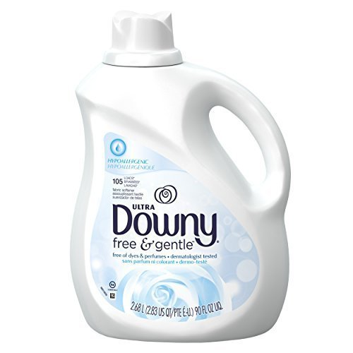 Downy Ultra Fabric Softener Free and Sensitive Liquid 105 Loads, 90-Ounce (Pack of 3) by Downy by Downy