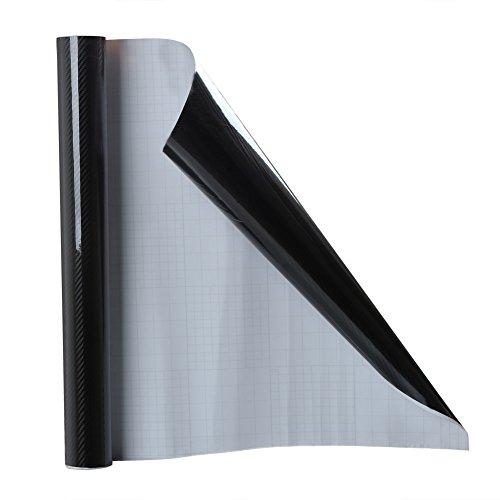 Diy Carbon Fiber (Rupse 60x20In 5D DIY High Gloss Car PVC Carbon Fiber Sticker Wrap Film)