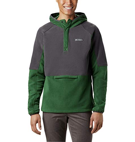 Columbia Men's Basin Trail 1/2 Snap Fleece Hoodie, Soft Fleece, Classic Fit
