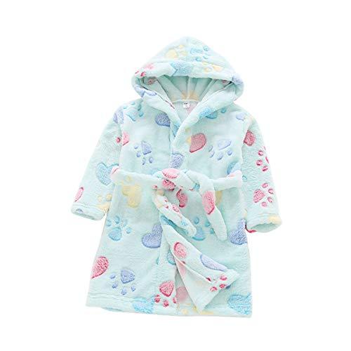 TOLLION Toddlers/Kids/Baby Soft Fleece Bath Robe Children Pajamas Sleepwear with Hood (4T, Yellow ()