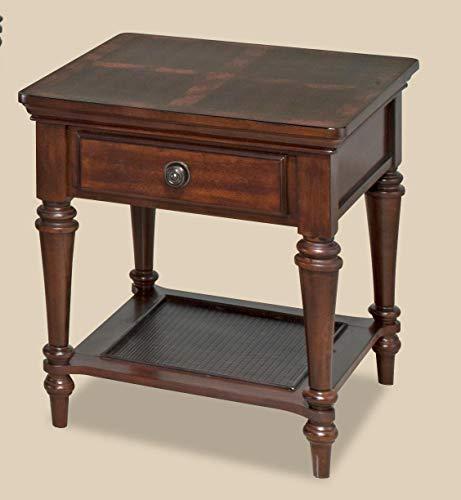 (Bernards Furniture Vandemere End Table in Warm Red Oak)