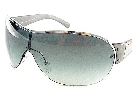 8098c9a18ba Image Unavailable. Image not available for. Colour  New Prada Sport Sunglasses  Sps-53G 1Bc 5D1 Soft Grey Lens   Black Silver