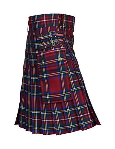 (Utility Kilt Black Tartan Kilt New For Men's (32, Royal Stewart))