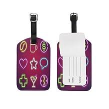 saobao conjunto de etiqueta de equipaje de neón de viaje piel sintética bolsa de equipaje de viaje veliz ID etiqueta, 1pieza