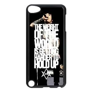 iPod Touch 5 funda Negro [PC dura del caso + HD Pattern] Bring Me The Horizon Oliver Serie Sykes® [Numeración: JJJJDHKOS8764]