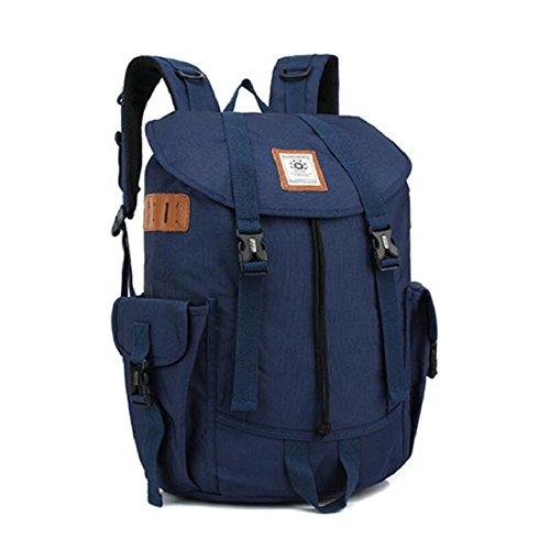 Z&N Backpack Multifuncional al aire libre senderismo viajes montañismo mochila de gran capacidad de la moda bolsos ocasionales fuentes de la campaña al aire libre portátilesblack23L blue