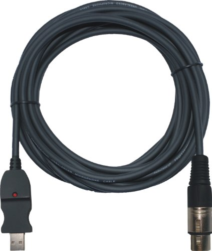 (Audio2000's USB to XLR Female 20ft Microphone USB Recording Cable - ADC203R )