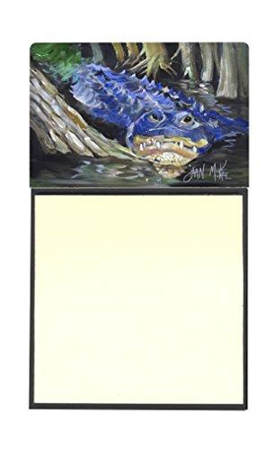 "UPC 615872955817, Caroline's Treasures JMK1135SN Blue Alligator Sticky Note Holder, 3.25 by 5.5"", Multicolor"